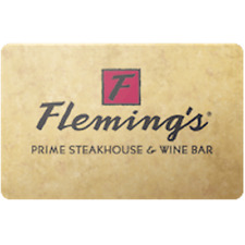 Flemings Steakhouse Gift Card $50 Value, Only $44.00! Free Shipping!