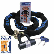 OXFORD HD CHAIN LOCK MOTORBIKE MOTORCYCLE SCOOTER HEAVY DUTY 1.5M SOLD SECURE