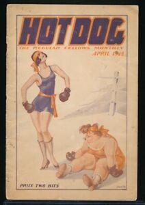 HOT DOG April 1925 Spicy Risque Girlie Cartoon Digest Flapper Boxers GGA Cvr vv
