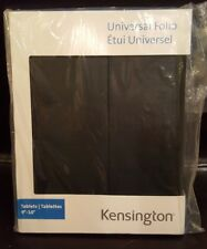 "New! Kensington Universal Black Folio Folder Protection Cover For tablet 9""-10"""