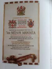 More details for original nelson mandela freedom of city of london guildhall 1996 commemorative