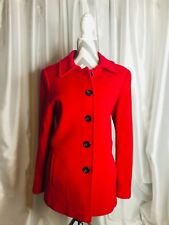 York & Preston Red Wool Coat Size 12 Women's Dillards 5 button Retro *REDUCED*