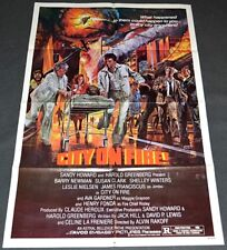 CITY ON FIRE! 1979 ORIG. MOVIE POSTER! BARRY NEWMAN & AVA GARDNER DISASTER EPIC!