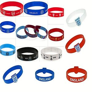 FOOTBALL CLUB TEAM RUBBER SILICONE BRACELET FA WRISTBAND one size fits all Band