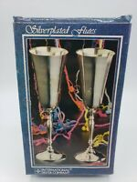 Vintage Silver Plated Wedding Flutes Set Of 2 International Silver Company NEW!