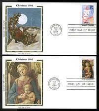 "U.S. FDC #2107-2108 Colorano ""Silk"" Cachet Set of 2 Christmas"