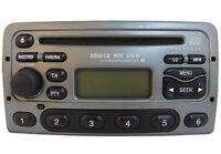 REFURBED FORD 6000 CD PLAYER in MET GREY RADIO RDS CODE FOCUS MONDEO FIESTA PUMA