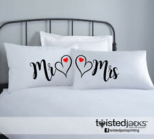 Printed Pillowcases - Cushion Design - Couple - Mr & Mrs! - Cushion Print Covers
