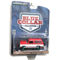 GREENLIGHT 35140 C BLUE COLLAR 1977 DODGE RAMCHARGER 1/64 with SNOW PLOW Chase