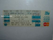 Lucinda Williams Unused 1997 Concert Ticket Santa Monica Ca The Troubadour Rare