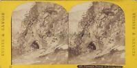 Chamonix Passage Da La Testa Nero Stereo Vintage Albumina Ca 1865
