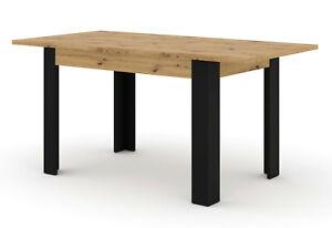 Extendable table nuka h 120 x 80 x 76 cm up to 160 cm artisan oak