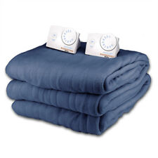 Queen Size Microplush Electric Heated Blanket by Biddeford Blankets, Royal Blue