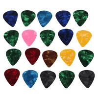 20pcs Electric Acoustic Bass Celluloid Guitar Picks Marbled Assorted M3V3