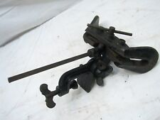 Rare Antique Cast Iron Saw Maker Setter Circular Blade Vase Mill Tool Sharpening