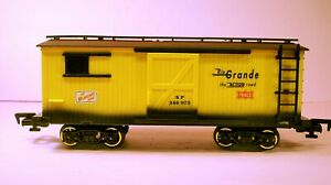 New Bright G Scale wood sided Boxcar Frisco Rio Grande SP 246973, NICE