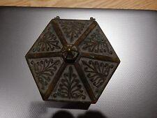 Late 1800s Heavy jewellrey BOX RELIQUIA BARA in ottone per ripristinare 13CM Diam