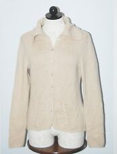 Collection Fiftynine 100% Cashmere 8ply Beige Cardigan Sweater S