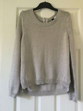 Ladies silver jumper knitted shiny H&M used little ok condition long sleeve