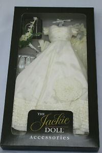 Jackie Kennedy Franklin Mint Wedding Splendor Doll Outfit Ensemble + Brochure