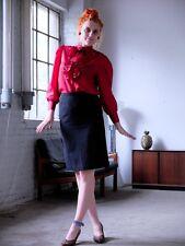 Damen Rock skirt schwarz knielang DDR m88 38/40 70er True VINTAGE 80er GDR
