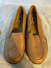 NEW DR. SCHOLL'S Double Air Pillo Tan Leather Slip on Loafer, Size 7.5 M
