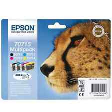 Epson Set 4 t0715 Sx210 sx215 sx400 sx405 sx405wi Original Genuino