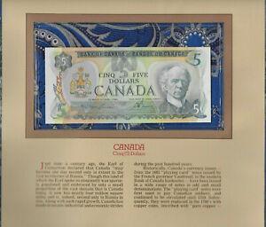 Most Treasured Banknotes Canada 5 Dollar $5 1979 UNC P 92 Lawson-Bouey