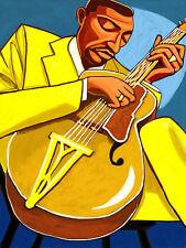 FREDDIE GREEN  PRINT poster jazz count basie band mr rhythm cd stromberg archtop
