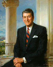 Excellent Oil painting America President Ronald Reagan in White House canvas 36""