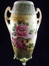 "Vintage 12"" Floral 2 Handle Vase - Nishiki Nippon"