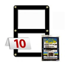 10 Baseball Trading DOUBLE CARD HOLDER Collector Safe Brass Screws Holds 2 Cards