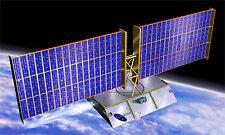 Teledesic Satellite Spacecraft Mahogany Kiln Wood Model Large New