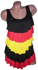 WM EM DEUTSCHLAND Top Shirt Fanshirt GERMANY Minikleid S M L MADE IN ITALY Neu