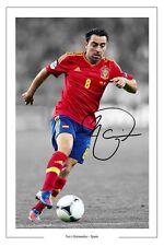 Xavi España autógrafo firmado Foto Impreso España Autografo