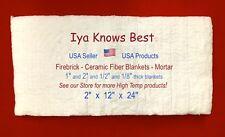 Ceramic Fiber Blanket 2x12x24 Thermal High Temp Insulation 2600f 8 Usa Made