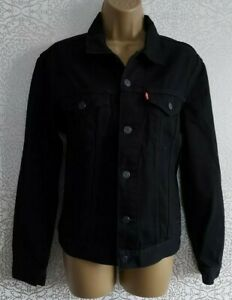 Levis Black Denim Jacket Size S SMALL  NEW with TAGS.