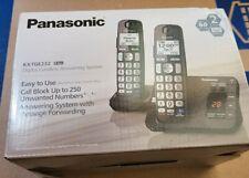 New Panasonic KX-TGE232 Expandable Cordless Phone 2 Handsets