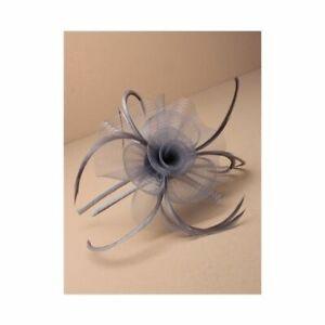 Silver / Grey Feather Fascinator Headband  Ladies Day Races Party Wedding