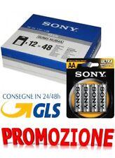 48 stilo Sony 48 batterie pile AA sum3 r6 ultra 12 confezioni da 4 stilo 1.5V -