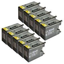 10 Cartuchos Brother Negro para Impresora MFC Mfc-j6510dw LC 1280 XXL Nuevo