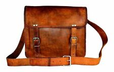 Womens Genuine Vintage Brown Leather Messenger New Shoulder Laptop Bag Briefcase