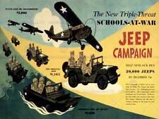 Guerra de propaganda campaña de jeep Segunda Guerra Mundial usa escuela Fine Art Print cartel BB8291B
