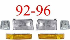 92 96 Ford 6Pc Head Light Kit, F150, F250, Bronco, 97 & 98 F350, Truck