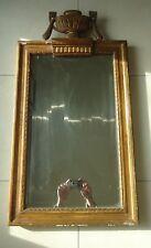 Miroir époque Empire en bois et platre