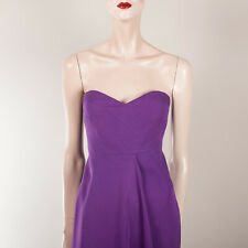 TIBI Damen Kleid M 38 Lila Schulterfrei Bustier Designer Couture Vintage Flare