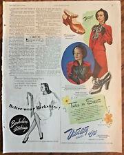 "Vitality shoes ad 1945 vintage original magazine print 1940s fashion art ""smart"""