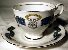 Royal Staffordshire Bone China TEA CUP & SAUCER Nova Scotia Tartan Coat of Arms