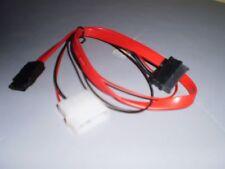 VCOM CE361 SATA2 Data + 4Pin Molex Male to SATA Power/Data Cable for Slim DVD