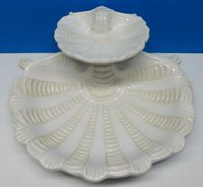 LENOX Butler's Pantry Ivory 2 Tier Shell Server ~ Retired Pattern ~ Excellent!